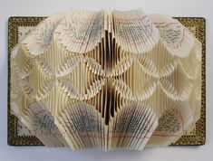 Lucille Moroni, once a textile artist, folds the pages of 19th century church books into elaborate symmetries.