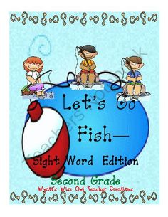 Go Fish Second Grade Sight Word Game from Mrs. Wyatt's Wise Owl Teacher Creations on TeachersNotebook.com -