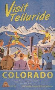 Old Telluride ski poster circa 1974 #VisitTelluride
