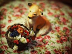 Little Gardener and Fox Handmade air-dry clay doll, OOAK by Romantic Wonders Clay Dolls, Air Dry Clay, Fox, Romantic, Handmade, Animals, Hand Made, Animales, Animaux