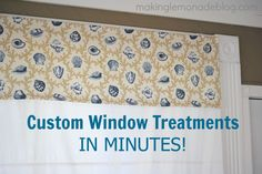 Easy DIY custom window valances with a secret trick!