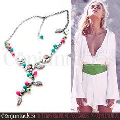 Este #collar con #flores, #hojas y #abalorios de colores es un #accesorio con un toque #vintage que queda ideal con vestidos de estilo #romántico ★ Precio: 11,95 € en http://www.conjuntados.com/es/collar-con-flores-hojas-y-abalorios-de-colores.html ★ #novedades #necklace #conjuntados #conjuntada #flowers #charms #joyitas #jewelry #bisutería #bijoux #accesorios #complementos #moda #fashion #fashionadicct #picoftheday #outfit #estilo #style #GustosParaTodas #ParaTodosLosGustos