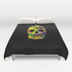 Sleep in color :) http://society6.com/product/death-can-be-cool-too_duvet-cover#46=342