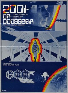 Hungarian poster for 2001: A SPACE ODYSSEY (Stanley Kubrick, UK/USA, 1968) Designer: unknown Poster source: Heritage Auctions