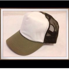 """Alternative Apparel """"Vintage"""" style Trucker hat Alternative Apparel basic """"vintage"""" style trucker hat. Center is soft white cotton panel BRAND NEW, does not come with tags. This listing is a sage color hat. The last picture is only used to show how it looks on a head. Black is NOT available. I have assorted colors: yellow, blue, burnt orange, black, green/yellow...see my other listings.  Alternative Apparel Accessories Hats"""