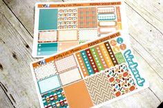 Planner Stickers - Weekly Planner Sticker Set - Erin Condren Life Planner - Happy Planner - Day Designer- Functional stickers  Pumpkin Spice