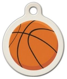 Basketball Pet ID Tag for Dogs and Cats  Dog Tag Art  LARGE SIZE ** You can get additional details at the image link.Note:It is affiliate link to Amazon.
