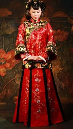 Traditional Chinese Wedding Dress Complete Set for Brides