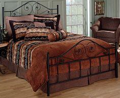 Amazon.com: Hillsdale Furniture 1403BQR Harrison Bed Set with Rails, Queen, Texture Black: Home & Kitchen