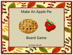 "Free: Fall is the time for picking apples fresh off the tree, making apple pie and having fun at fall apple festivals. Students can continue that fun with this Apple Pie game. The Apple Pie game is a board came. It consists of a spinner, board and apple pie ingredients playing cardsThis product is ready to print and be used immediately.   I hope your students enjoy this free download. Please click on the STAR above to ""Follow Me"" and receive updates on new products and free downloads."
