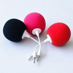 music balloon speakers - so cute!