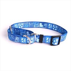 Yellow Dog Design Tiki Blue Martingale Medium #Collar
