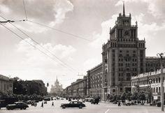 Москва, вид на гостиницу Пекин и Садовое, 1960-е (с)