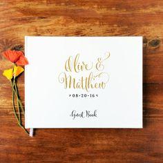 Invitado libro paisaje 1  tapa dura  boda por PaperLuxStationery