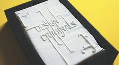 Speaking of edible books, Design Criminals is another tome you can nibble — only this one is an art book made entirely out of sugar and printed with vegetable ink. The book won designer Andreas Pohancenik a nomination for the prestigious Brit Insurance Design Awards.