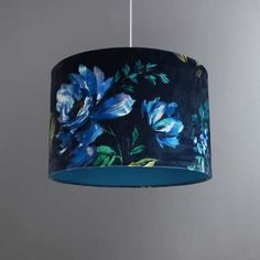 Pendant lighting Blue - Details about Vintage Elegant Floral Midnight Blue Light Shade Easy Fit Drum Pendant Lighting... #Pendantlighting #Blue