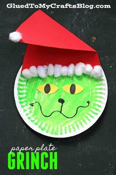 Paper Plate Grinch - Christmas Kid Craft Idea Don't be a GRINCH this Christmas! If you are only going to do one kid craft with your child this season, today's Paper Plate Grinch is the one to do! Fun Christmas Activities, Christmas Crafts For Toddlers, Crafts For Boys, Christmas Crafts For Kids, Toddler Crafts, Holiday Crafts, Holiday Fun, Christmas Crafts For Kindergarteners, Christmas Paper Plates