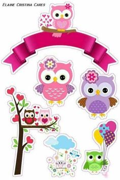Diy Crafts To Do, Paper Crafts, Owl Clip Art, 3d Cards, Deco Table, Baby Decor, Cute Drawings, Paper Dolls, Cake Toppers
