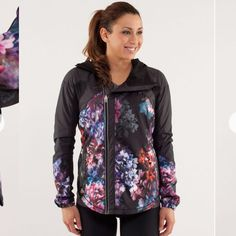1bfe09fa Lululemon Run: Get Up And Glow Jacket - Spring Has Sprung Multi / Black - lulu  fanatics