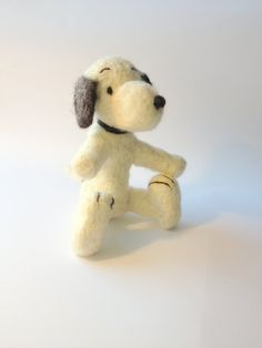 Needle Felted Snoopy Kids Toy by CarleysCornerStudio on Etsy, $60.00