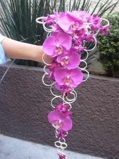 Ramo en cascada con orquídeas original