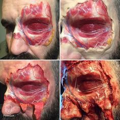 Step by step build of the melted face makeup #specialfx #specialeffects…