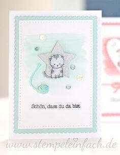 www.stempeleinfach.de, babykarte - Stampin Up - Stempeleset Zum Nachwuchs