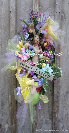 Happy Easter Bunny Swag  ~A New England Wreath Company Designer Original~