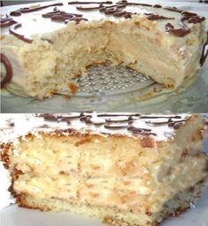Compartilhe isso! Ingredientes Para o bolo: 3 ovos 1 e 1/2 xícara (chá) de farinha de trigo 1 xícara (chá) de açúcar 50 mL de óleo 100 mL de água 1 colher (sobremesa) de fermento em pó Para o recheio: 1 lata de leite condensado 100 gramas de chocolate branco ralado 1 caixinha de creme …