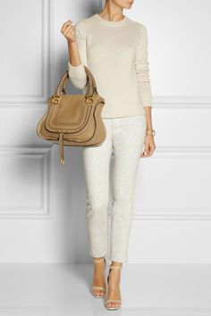 Chloé | The Marcie medium leather tote | NET-A-PORTER.COM