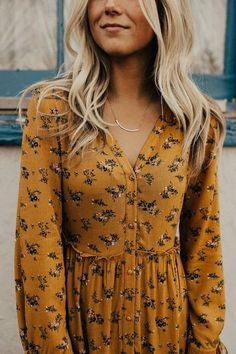 Modest Outfits, Modest Fashion, Cute Outfits, Fashion Outfits, Fashion Clothes, Style Fashion, Summer Outfits, Estilo Hippie, Mustard Dressing