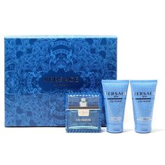 Versace Versace Man Eau Fraiche 3-Piece Gift Set (190 BRL) ❤ liked on Polyvore featuring beauty products
