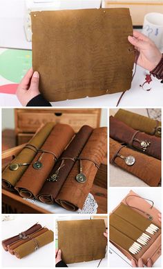 Vintage Pirate Roll Up PU Leather Pen Pencil Case Bags Treasure Map $3.33 on AliExpress.  Pirates Nightmare in the Caribbean Halloween Party Decorations & Ideas.