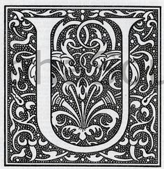 illuminated letter U | INSTANT DOWNLOAD French Letter U Illuminated Lettering Ornate Very Hi ...