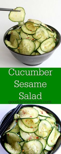 Cucumber Sesame Salad is quick, fresh, and just right with any Asian main meal, actually with any main dish, period.