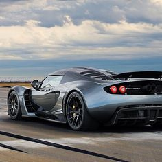 Fastest car in the world you say? It's the Hennessey Venom GT...about only angle I like it....