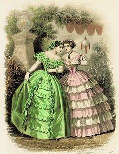 Mid 1850s - Victorian Fashion Plate by DarKaso on Flickr  civil war era fashion