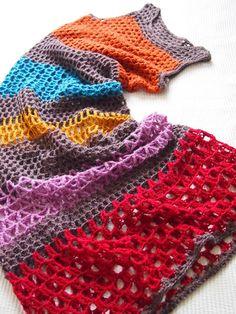Crochet dress - no pattern, this is gorgeous. VMSomⒶ KOPPA: Raitamekko