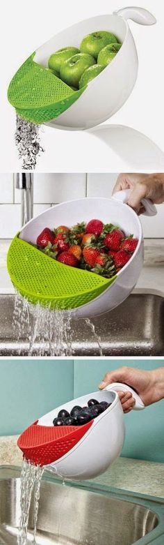 Soak & Strain Washing Bowl. Click for Discount Price