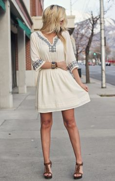 I love this bohemian dress for summer! So perfect!