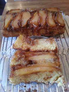 Upside Down Pear Crunch Coffee Cake: my results.