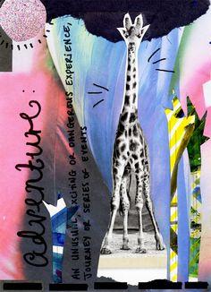 Jules&Tea : ADVENTURE #getmessyartjournal #sketchbook #collage #artjournal #giraffe #adventure