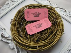 Princess Crown Tickets Sweet 16 Bridal Shower by GoldenNestStudio