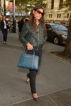 00dec960040 Actress   Designer Katie Holmes was recently spotted in NYC window  shopping, sporting the new in Majollica Blue. The perfect shopping  accessory! Porsche ...
