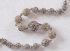 Vintage Silver Filigree Necklace