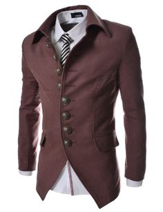 TheLees Mens Casual Slim 8 Button Jacket Blazer Wine Large(US Medium) TheLees,http://www.amazon.com/dp/B00CBQ50HE/ref=cm_sw_r_pi_dp_tMmktb1ABW0H31J0