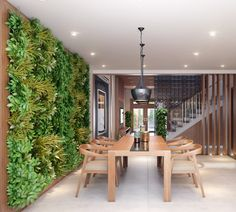 4 Resolute Tips: Flat Roofing Railing curved roofing tiles. Wall Garden Indoor, Vertical Garden Wall, Interior Garden, Interior Design, Jardin Vertical Artificial, Garden Wall Designs, Modern Roofing, Roof Styles, Plant Wall
