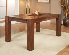 Modus Furniture Meadow Solid Wood Extending Dining Table, Brick Brown Modus Furniture
