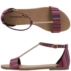 Bought these sandals today. <3 them! (Payless Montego Bay Club Multi-Stripe Sandal)