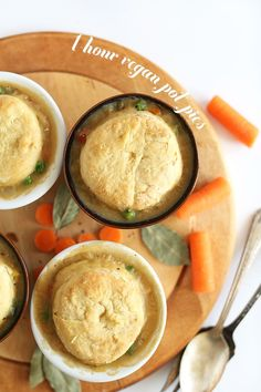 1 Hour Vegan Pot Pies